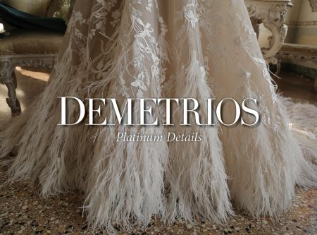 Platinum by Demetrios 2019, the Clair De Lune line is highly inspired by french fashion statements throughout history
